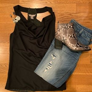 Banana Republic black racer-back top